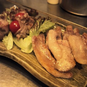 鹿児島産黒豚さつまはやとん炭火焼
