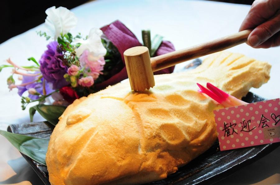 【宴会限定追加オプション】お祝いパーティー向け『鯛の塩釜焼』ご予約承ります。