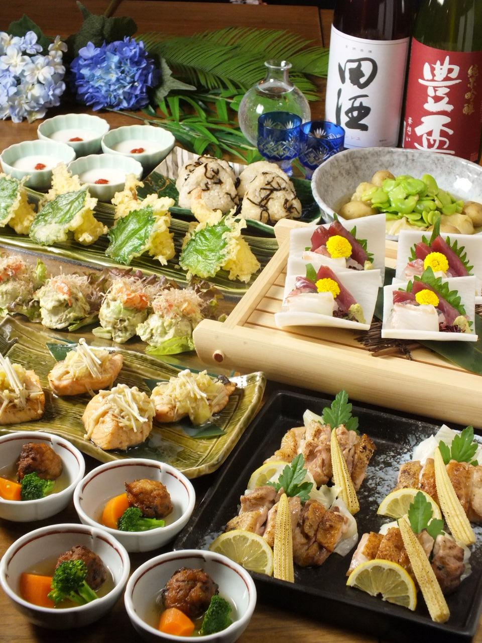 【土日・昼限定】昼宴会いわいどりコース5000円
