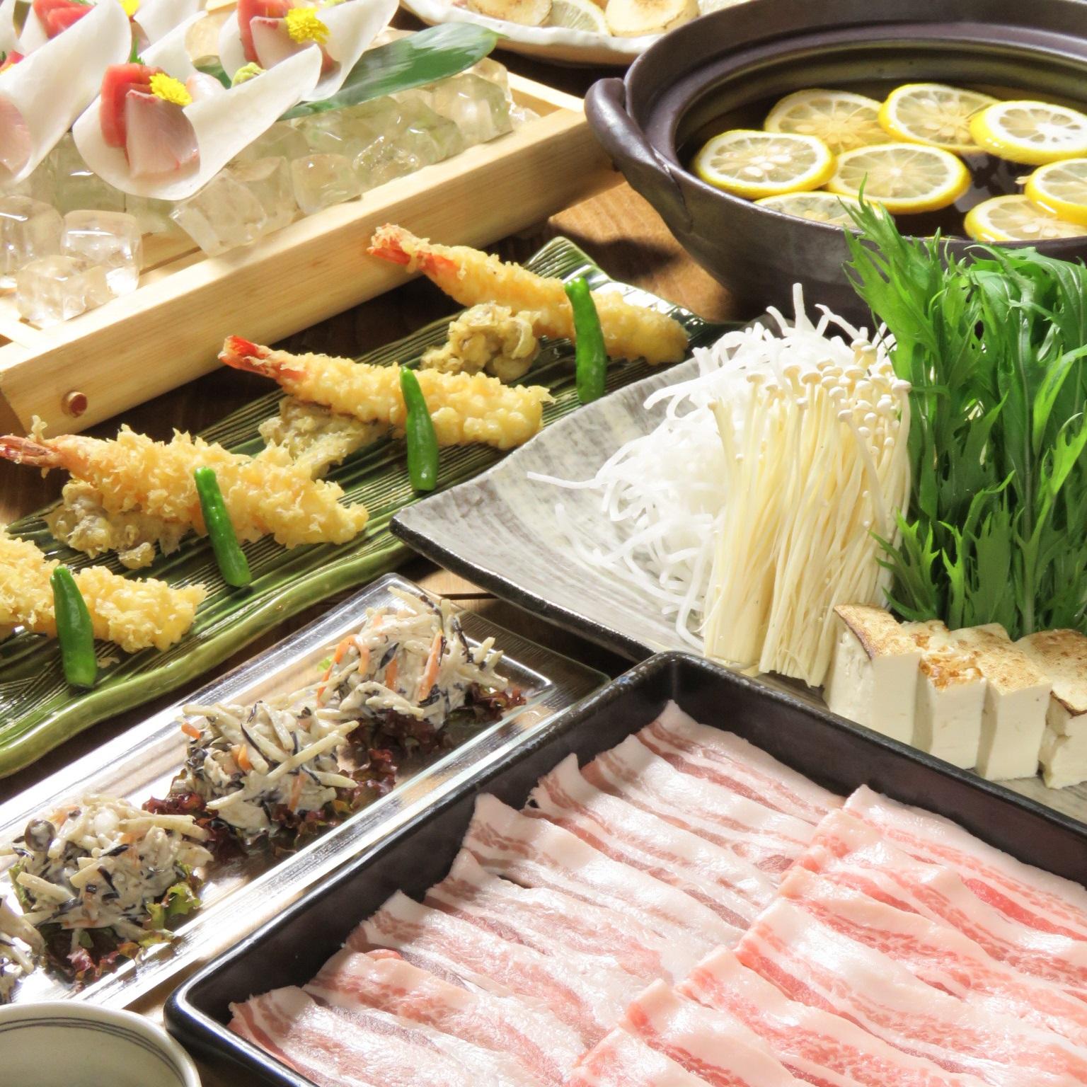 【ゆず香る】ゆず鍋☆黒豚しゃぶしゃぶコース飲み放題付き5500円