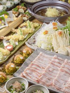 西新宿個室居酒屋はたごの免疫力アップ鍋(黒豚しゃぶしゃぶ・しょうが鍋)は、いかがでしょうか?