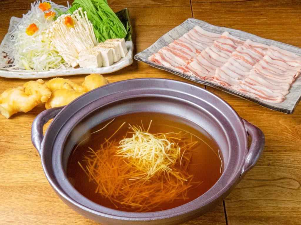 新宿個室居酒屋で生姜鍋!