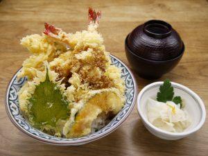 西新宿居酒屋で大海老天丼ランチテイクアウトも可能