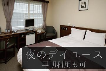 新宿で日帰り・夜のデイユース(17時~最大5時間/翌日の早朝利用も可)ご休憩プラン