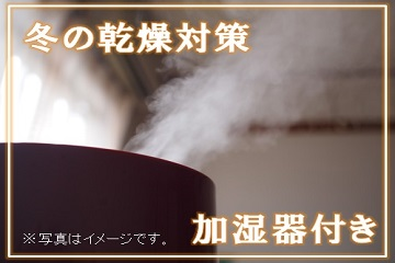 【女性限定】乾燥撃退!加湿器と資生堂マスクシート付きで冬の乾燥対策プラン