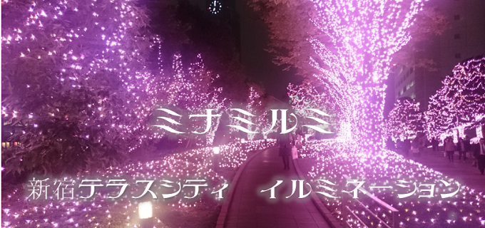 新宿テラスシティイルミネーション【ミナミルミ】